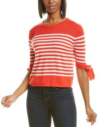 Autumn Cashmere Breton Stripe Cashmere Top