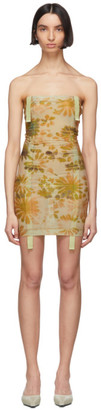 BEIGE Charlotte Knowles SSENSE Exclusive and Green Skinn Dress