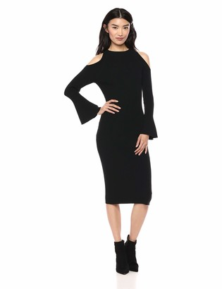 Lark & Ro Women's Long Sleeve Funnel Neck Sweater Dress