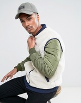 Abercrombie & Fitch Baseball Cap Garment Dyed Logo In Khaki