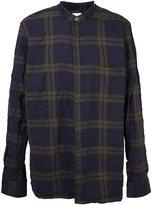 Paul Smith plaid collarless shirt