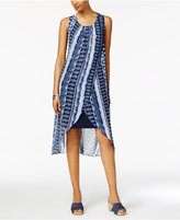 Style&Co. Style & Co Style & Co Petite Printed Tulip-Hem Shift Dress, Created for Macy's