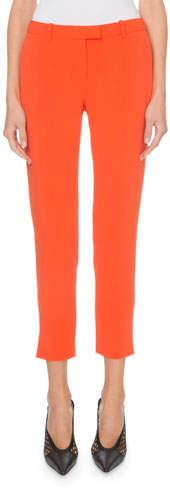 Altuzarra Henri Flat-Front Cropped Classic Pants