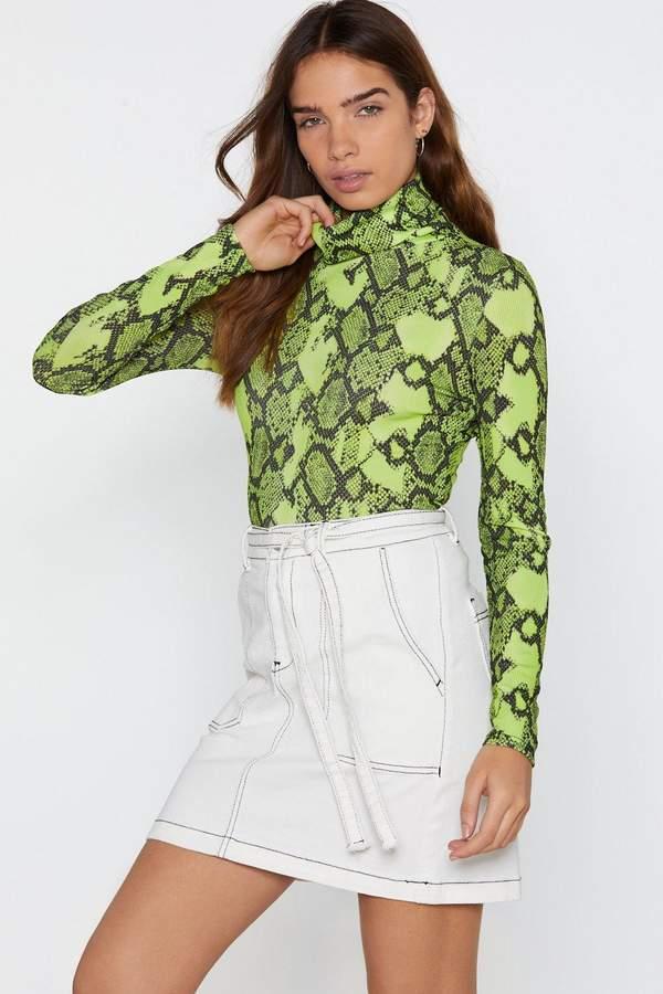 Such a Stitch Belted Denim Skirt