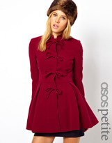 Asos Exclusive Coat With Bow Front