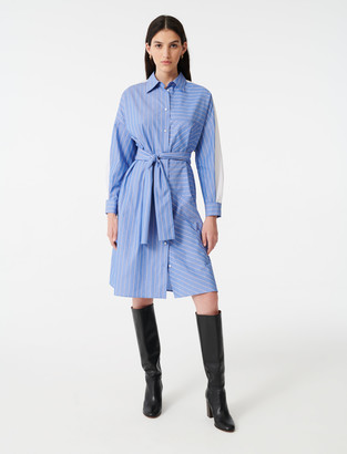 Maje Shirt dress with printed stripes