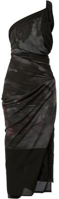 Yohji Yamamoto Pre Owned Tie-Dye Draped Dress