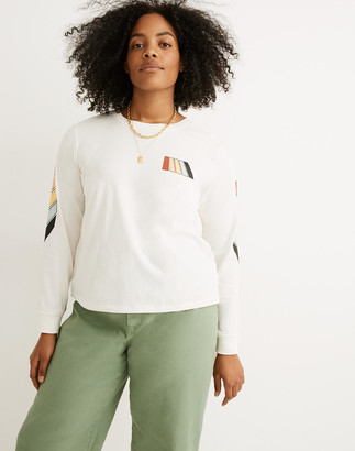 Madewell x Free & Easy Rainbow Graphic Long-Sleeve Tee