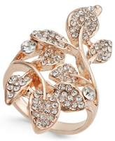 INC International Concepts I.N.C. Rose Gold-Tone Pavé Multi-Leaf Ring, Created for Macy's