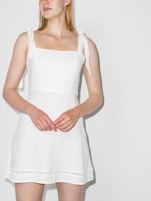HONORINE White Kiki Linen Mini Dress