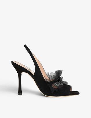 LK Bennett Newbury suede heeled sandals