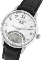 Maurice Lacroix Jours Retrograde MP6358 Masterpiece Day Date Stainless Steel Silver 40mm Watch