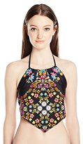 Hobie Women's Strike a Posey Crop Scarf Swimsuit Tankini Top