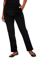 As Is Denim & Co. Petite Classic Waist Slim Leg Pants