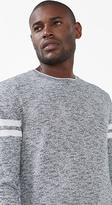 Esprit OUTLET melange jumper w striped sleeves