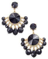 Kate Spade Sunset Blooms Gold-Tone Crystal Fan Earrings