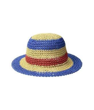 San Diego Hat Company Kids Paper Crochet Stripe Sun Brim (Infant)