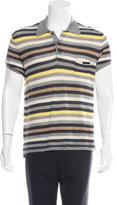 Prada Striped Knit Polo