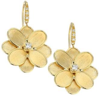 Marco Bicego Petali Lunaria 18K Yellow Gold & Diamond Flower Drop Earrings