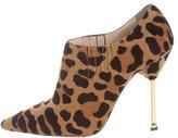 Prada Leopard Print Ankle Boots