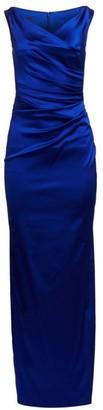 Talbot Runhof Sleeveless Satin Column Gown