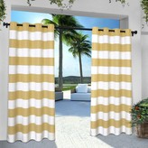Franklin Sports Exclusive Home 2-pack Indoor/Outdoor Stripe Cabana Window Curtains