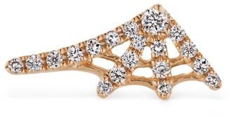 Maria Tash Diamond Spiderweb Threaded Stud Earring (10mm)