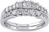JCPenney MODERN BRIDE 4/5 CT. T.W. Diamond 14K White Gold Bridal Ring Set