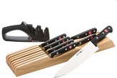 Wusthof @Model.CurrentBrand.Name Gourmet In-Drawer Knife, Tray and Sharpener Set - 9-Piece