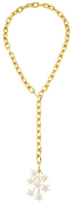 Lele Sadoughi 14K Goldplated Garden Bouquet Chain Necklace