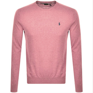 Ralph Lauren Crew Neck Knit Jumper Pink