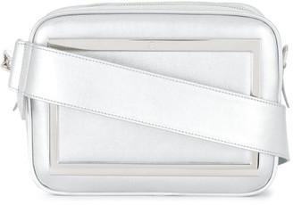 Roger Vivier Cubique Leather Shoulder Bag