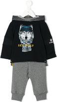 Lapin House wolf printed hoodie & sweatpants