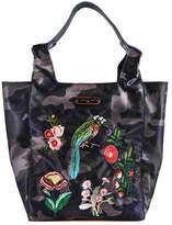 Nicole Lee Women's Krissy Camouflage Embroidery Shopper Bag