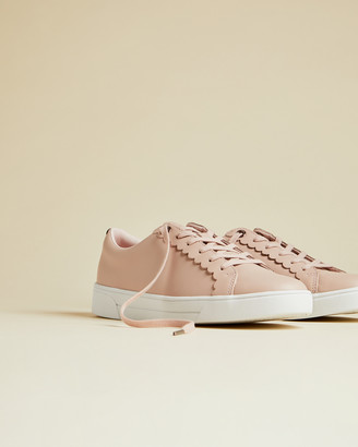 Ted Baker TILLYS Leather scalloped edge trainer