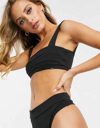 LÉ BUNS Gia organic cotton bandeau bralette in black