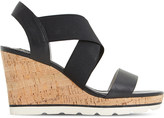 Dune Kalifornia cross-strap wedge sandals