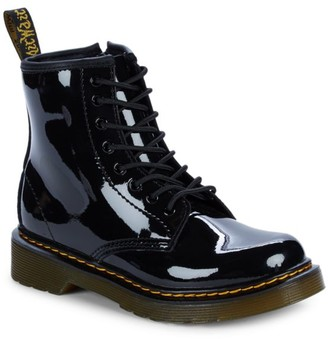 Dr. Martens Little Girl's & Girl's Patent Leather Lamper Boots