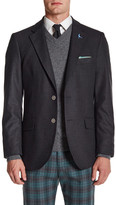 Tailorbyrd Solid Notch Collar Sportcoat