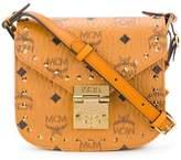 MCM studded saddle crossbody bag