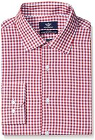 Dockers Red Check Fitted Shirt - Spread Collar
