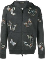Valentino embroidered butterfly pattern hoodie