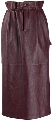 Miu Miu High-Waist Midi Skirt