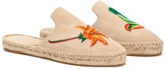 Aquatalia Blair Espadrille Embroidered Flat