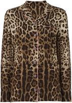 Dolce & Gabbana leopard print pyjama shirt - women - Silk - 36