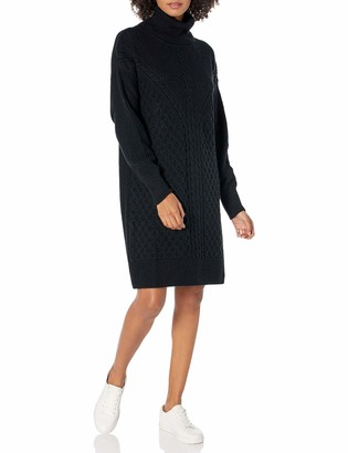 The Drop Women's Rosalie Cable Stitch Mini Sweater Dress