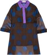 DELPOZO Printed silk-organza blouse