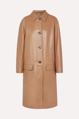 Prada Leather Coat - Camel