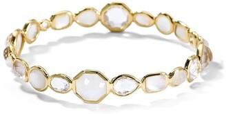 Ippolita 18kt yellow gold Rock Candy Hero Gelato moonstone, mother-of-pearl and quartz bangle