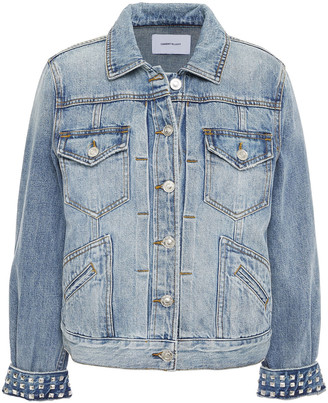 Current/Elliott The Turnt Boulder Studded Faded Denim Jacket